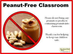 peanut-free-classroom-poster