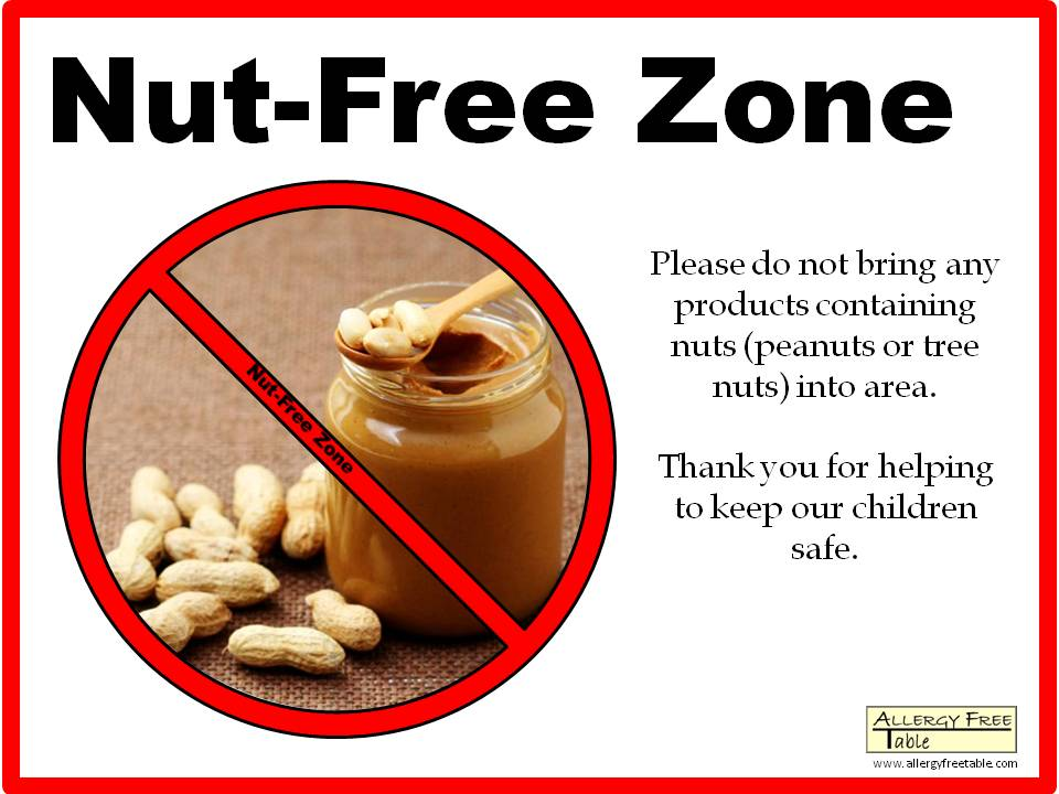 Nut-free Posters